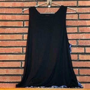 Juicy Couture Black Front/ Print Back Tank SZ-XL